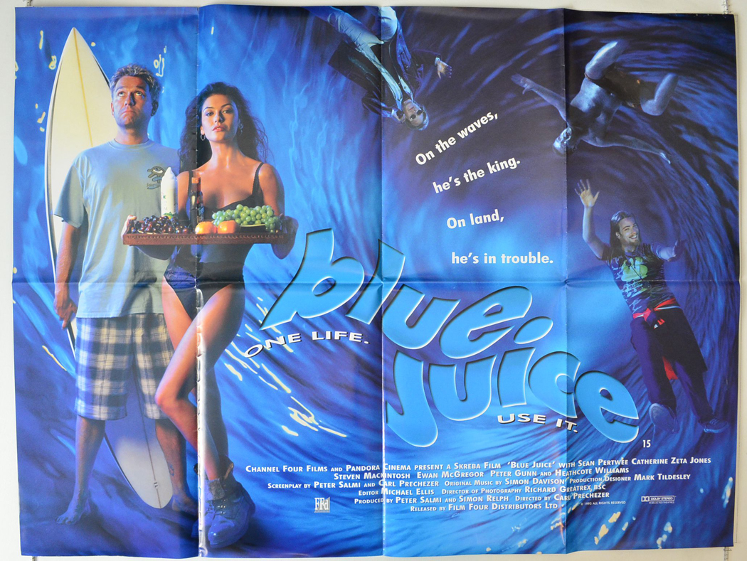 Blue Juice : Cinema Quad Poster