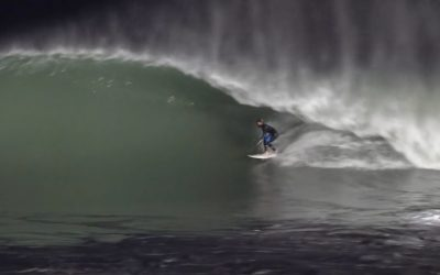 Night surf in Morocco