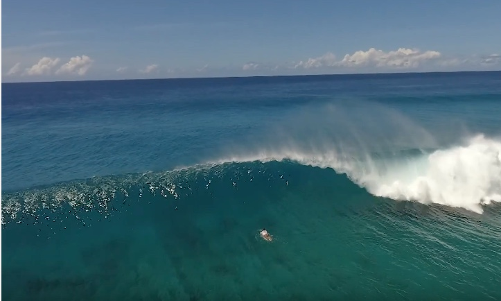 Surfing Cokes – by drone