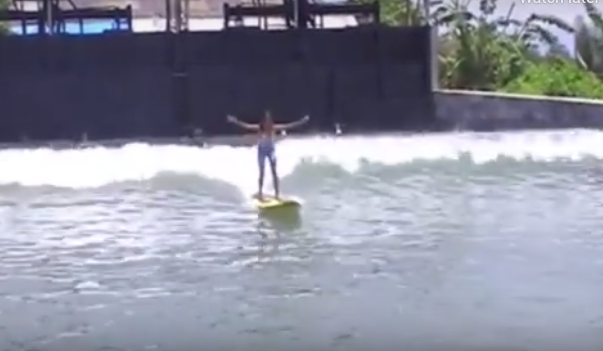 Man builds his own human powered wave pool