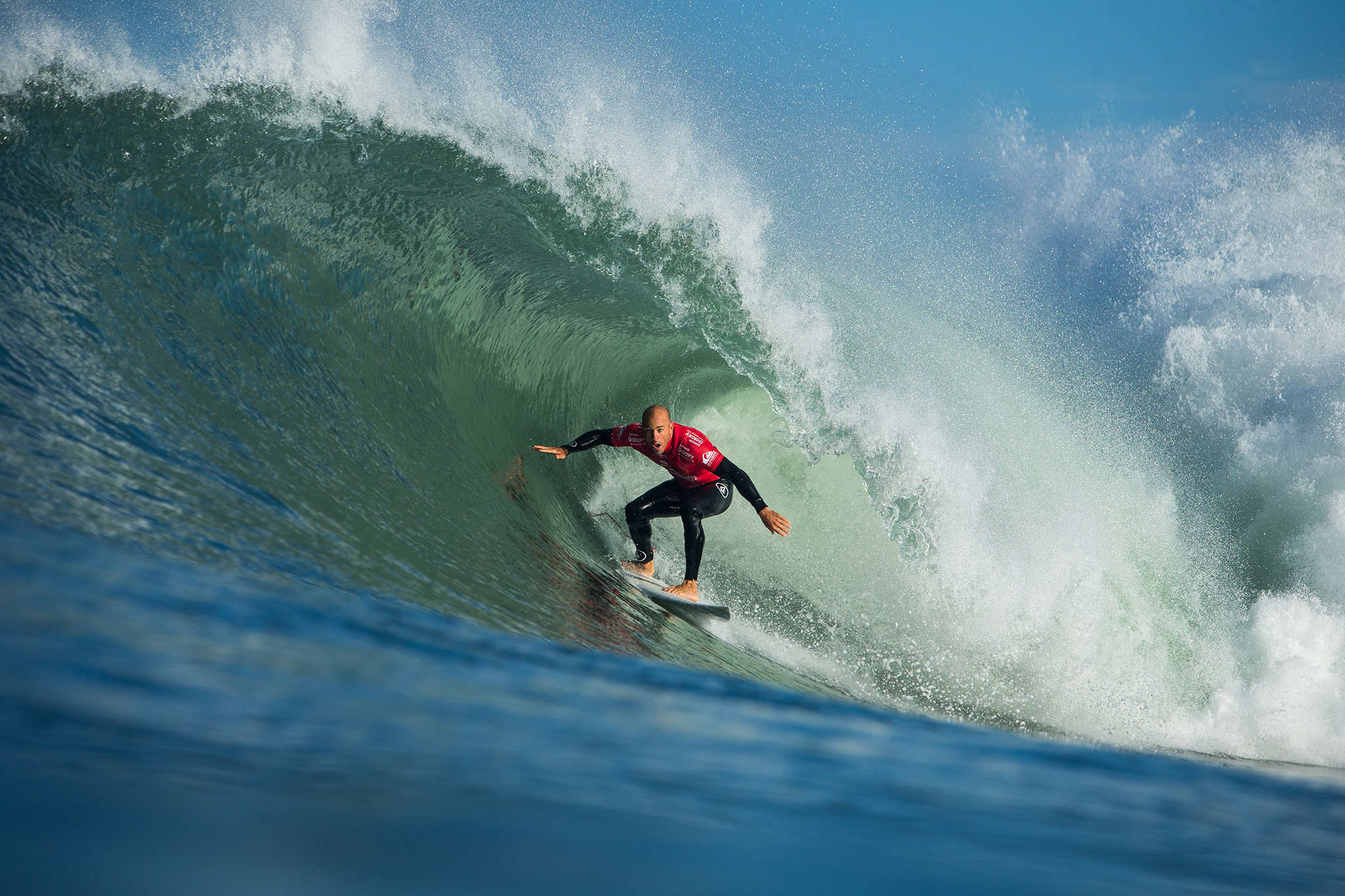 Kelly Slater of the USA (pictured) placing runner up at the Quiksilver Pro France during Round 1 on Thursday October 8, 2015.