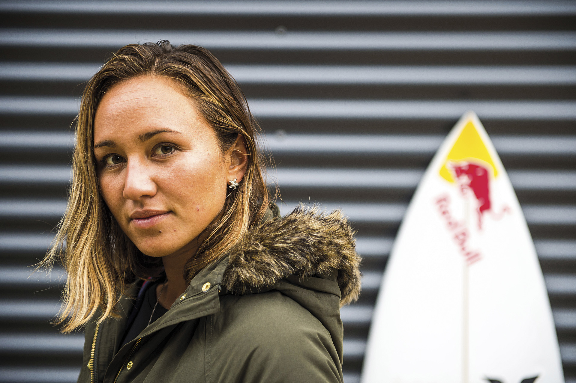 Carissa Moore poses for a Portrait in Torquay, Australia on April 11, 2015 // Ryan Miller/Red Bull Content Pool // P-20150421-00265 // Usage for editorial use only // Please go to www.redbullcontentpool.com for further information. //