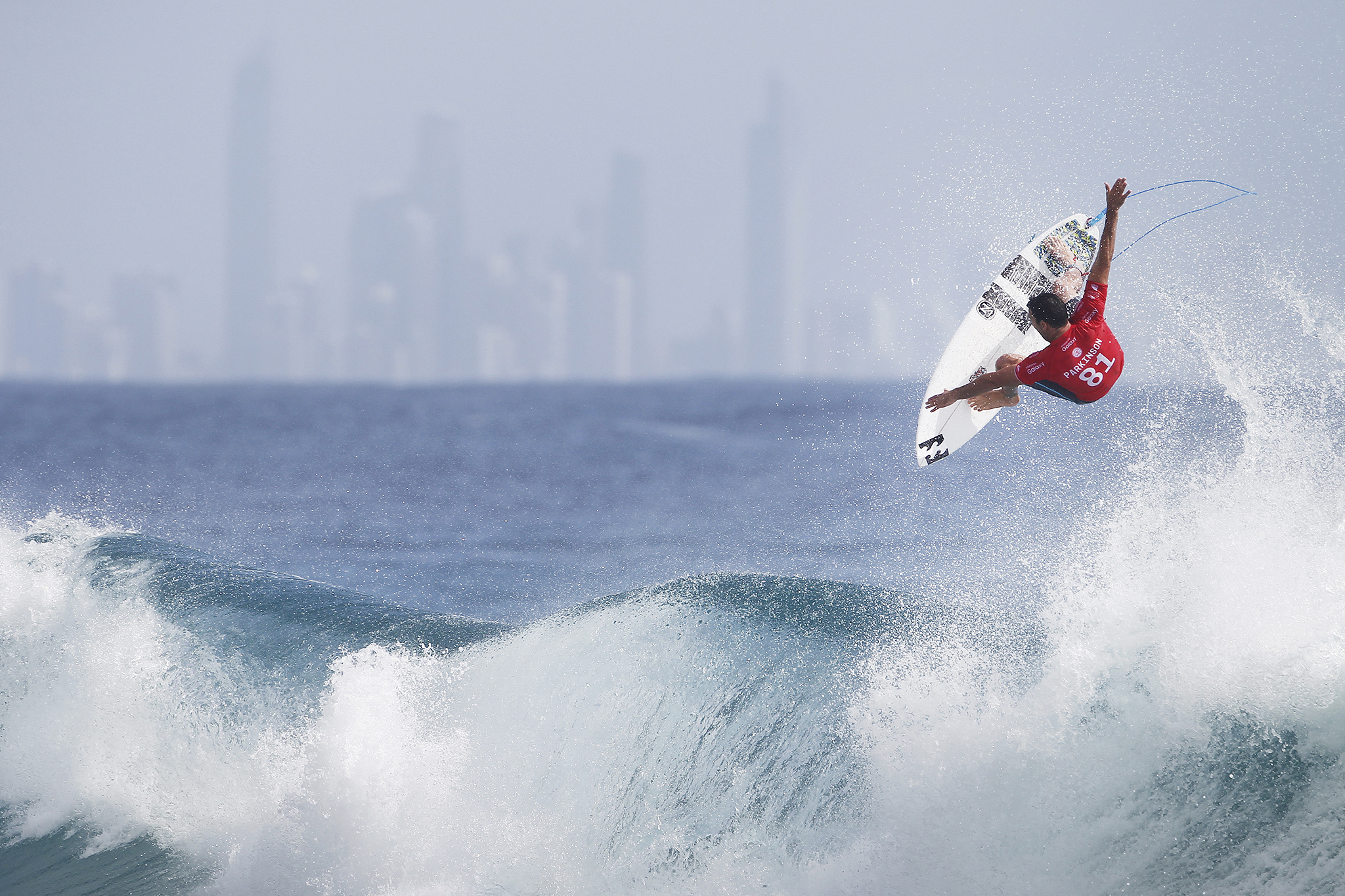 Joel Parkinson of Australia (pictured) winning his Round 3 heat with an excellent scoring ride to advance into ROund 4 of the Quiksilver Pro Gold Coast on Monday March 14, 2016. PHOTO CREDIT: ©WSL/ Kirstin SOCIAL MEDIA TAG: @wsl @kirstinscholtz The attached image is a hand-out image from the World Surf League and is royalty free for editorial use only, no commercial rights granted. The copyright is owned by World Surf League. Sale or license of the images is prohibited. ALL RIGHTS RESERVED.