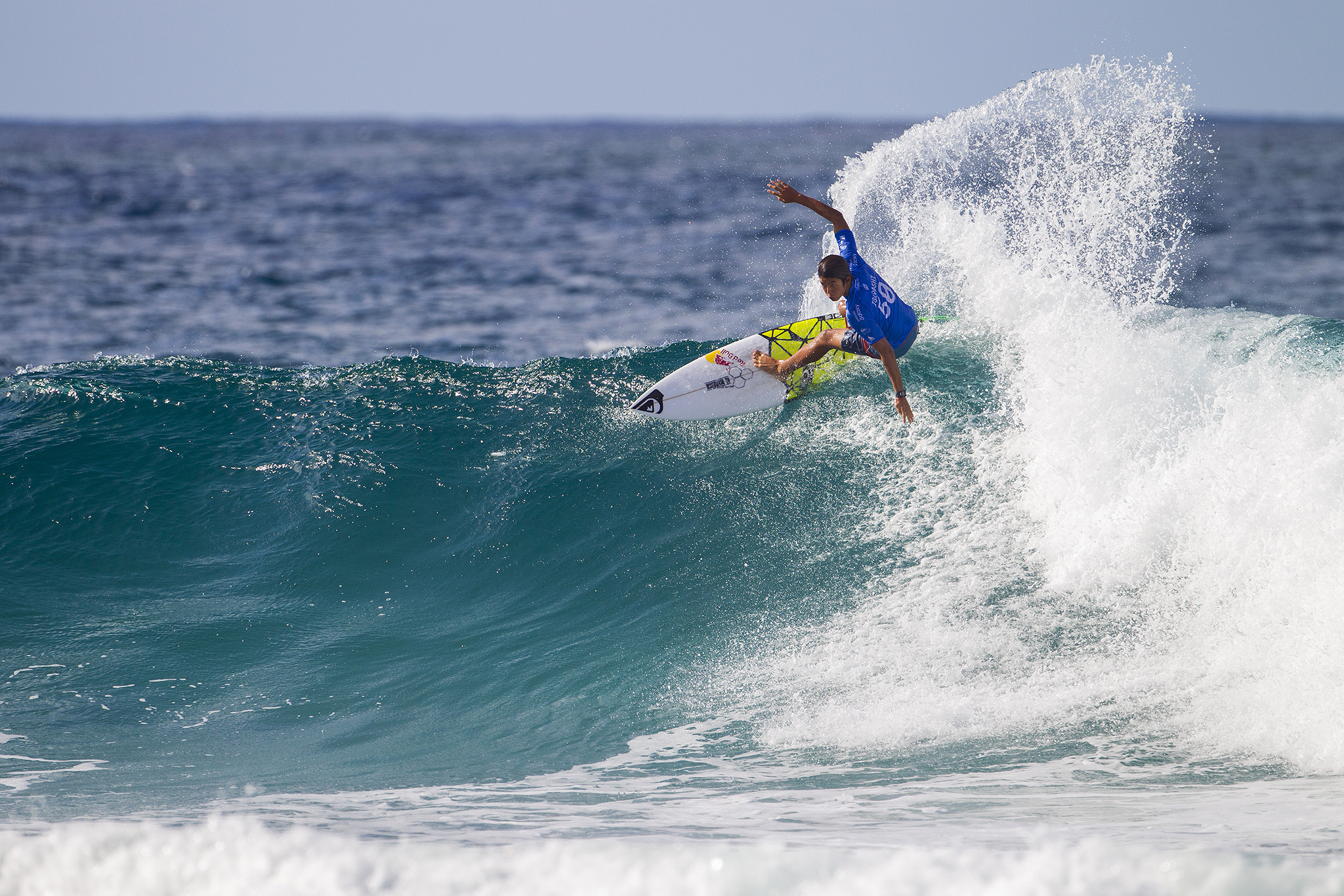 Tour rookie Kanoa Igarashi winning of the USA (pictured) winning his Round 3 heat at the Quiksilver Pro Gold Coast on Monday March 14, 2016. PHOTO CREDIT: ©WSL/ SKINNER SOCIAL MEDIA TAG: @wsl The attached image is a hand-out image from the World Surf League and is royalty free for editorial use only, no commercial rights granted. The copyright is owned by World Surf League. Sale or license of the images is prohibited. ALL RIGHTS RESERVED.
