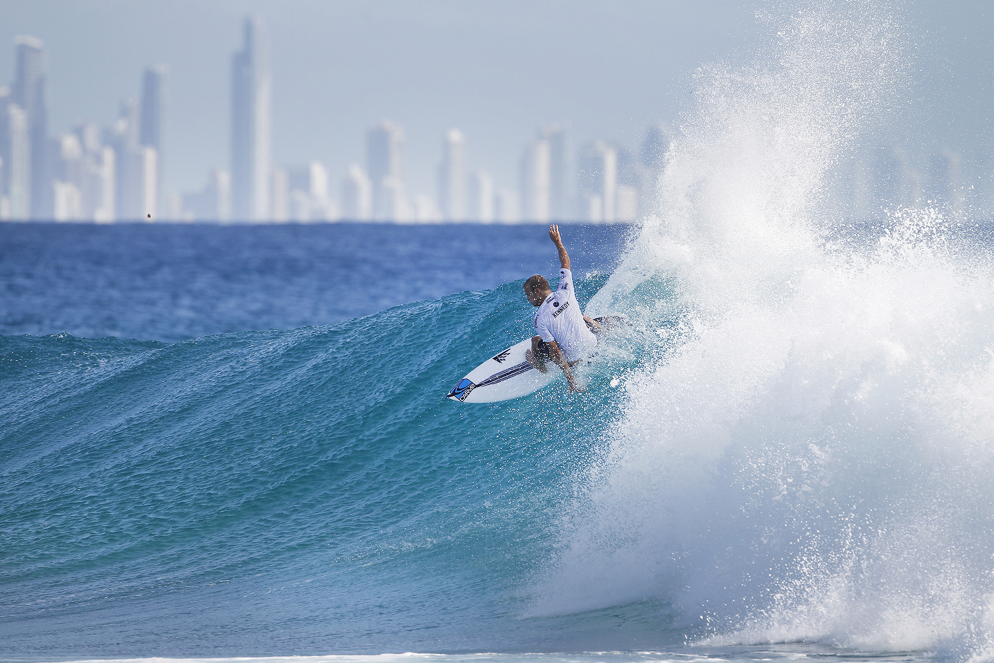 Stu Kennedy of Australia (pictured) winning his Round 5 heat to advance into the Quarterfinals of the Quiksilver Pro Gold Coast on Tuesday March 15, 2016. PHOTO: © WSL/ Kirstin SOCIAL MEDIA: @kirstinscholtz @wsl This is a hand-out image from the World Surf League and is royalty free for editorial use only, no commercial rights granted. The copyright is owned by World Surf League. Sale or license of the images is prohibited. ALL RIGHTS RESERVED.