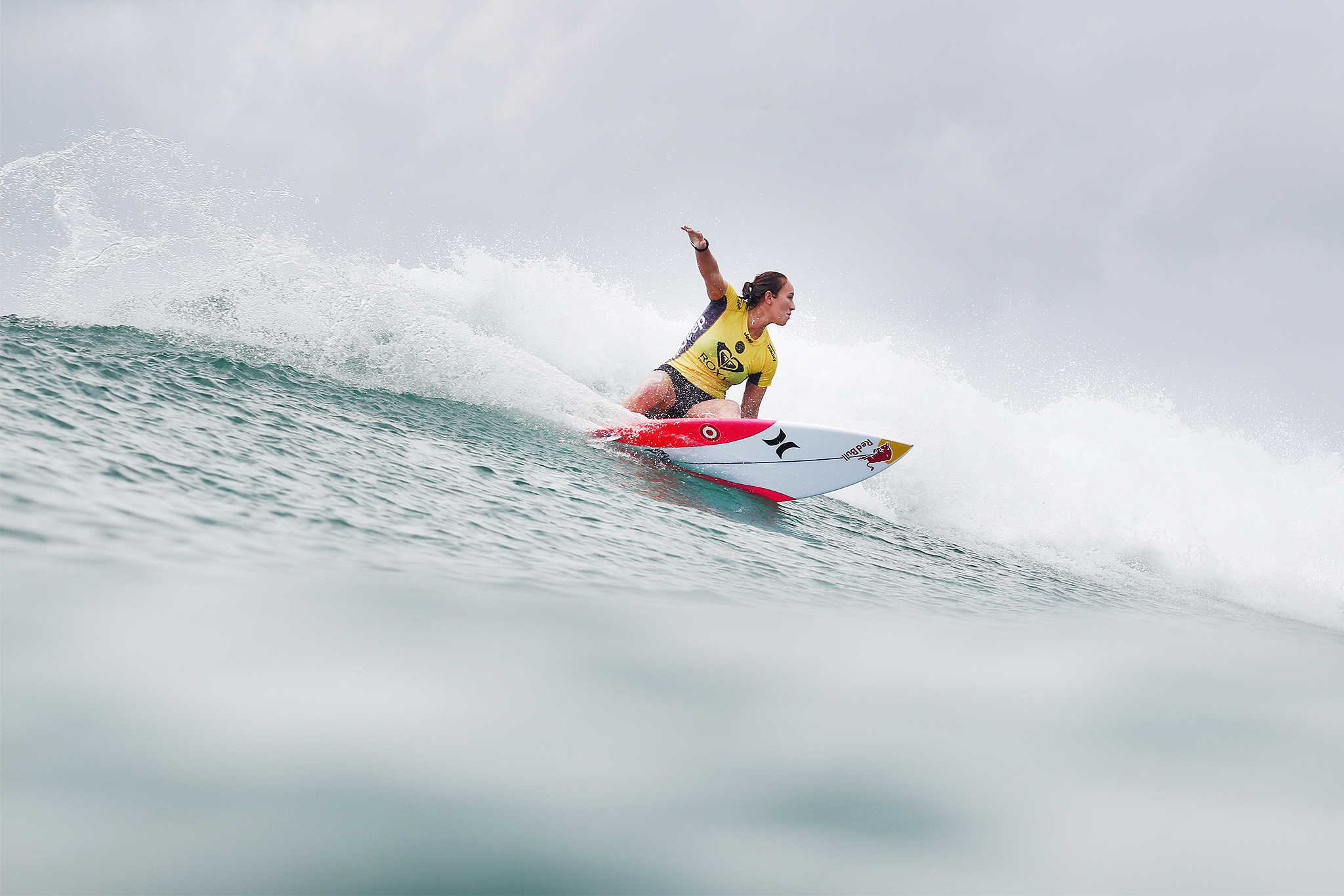 Carissa Moore of Hawaii (pictured) winning her Quarterfinal heat to advance into the Semifinals at the Roxy Pro Gold Coast on Tuesday March 15, 2016. PHOTO CREDIT: © WSL/ KIRSTIN SOCIAL MEDIA TAG: @kirstinscholtz @wslThis is a hand-out image from the World Surf League and is royalty free for editorial use only, no commercial rights granted. The copyright is owned by World Surf League. Sale or license of the images is prohibited. ALL RIGHTS RESERVED.