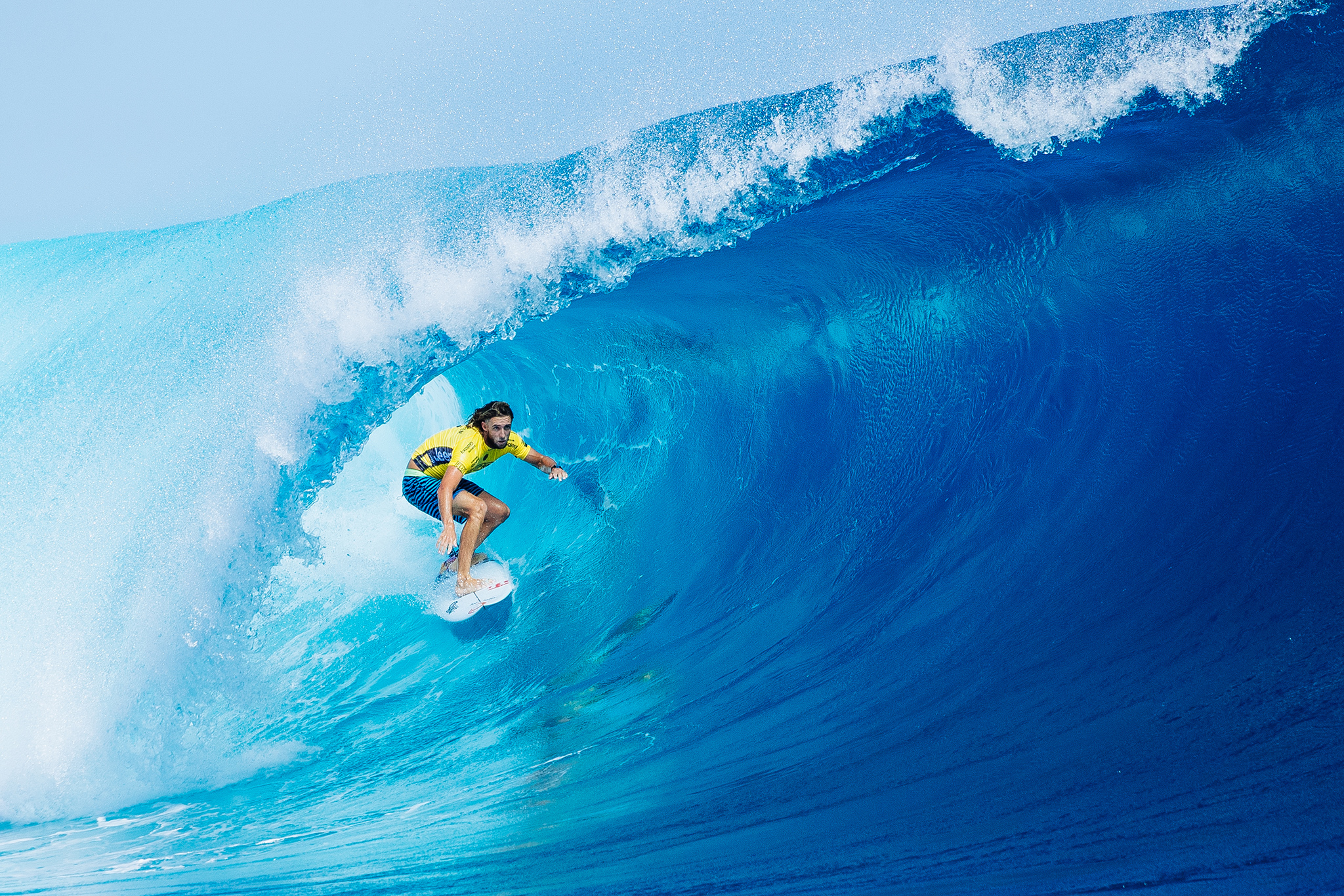 Matt Wilkinson of Australia (pictured) placing runner up at the Fiji Pro at Cloudbreak, Tavarua on Friday June 17, 2016. PHOTO: © WSL/ Sloane @edsloanephoto This image is the copyright of  the World Surf League and is provided royalty free for editorial use only, in all media now known or hereafter created. No commercial rights granted. Sale or license of the images is prohibited. This image is a factually accurate rendering of what it depicts and has not been modified or augmented except for standard cropping and toning. ALL RIGHTS RESERVED.