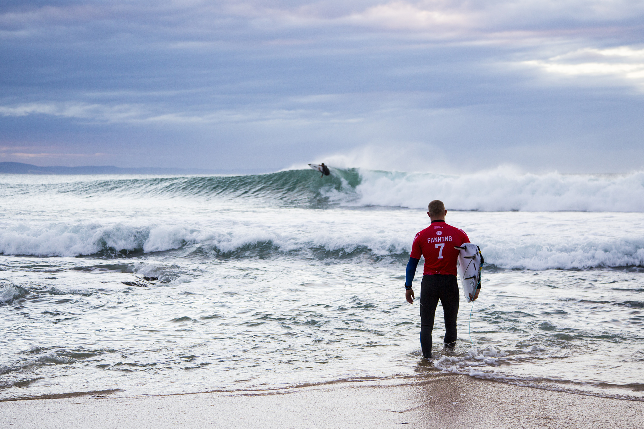 """Mick Fanning of Australia (pictured) before his round one victory at the JBay Open in South Africa on Wednesday July 6, 2016. PHOTO: © WSL/ Tostee SOCIAL:@wsl This image is provided by the Association of Surfing Professionals LLC (""""World Surf League"""") royalty-free for editorial use only. No commercial rights are granted to the Images in any way. The Images are provided on an """"as is"""" basis and no warranty is provided for use of a particular purpose. Rights to individuals within the Images are not provided. The copyright is owned by World Surf League. Sale or license of the Images is prohibited. ALL RIGHTS RESERVED."""