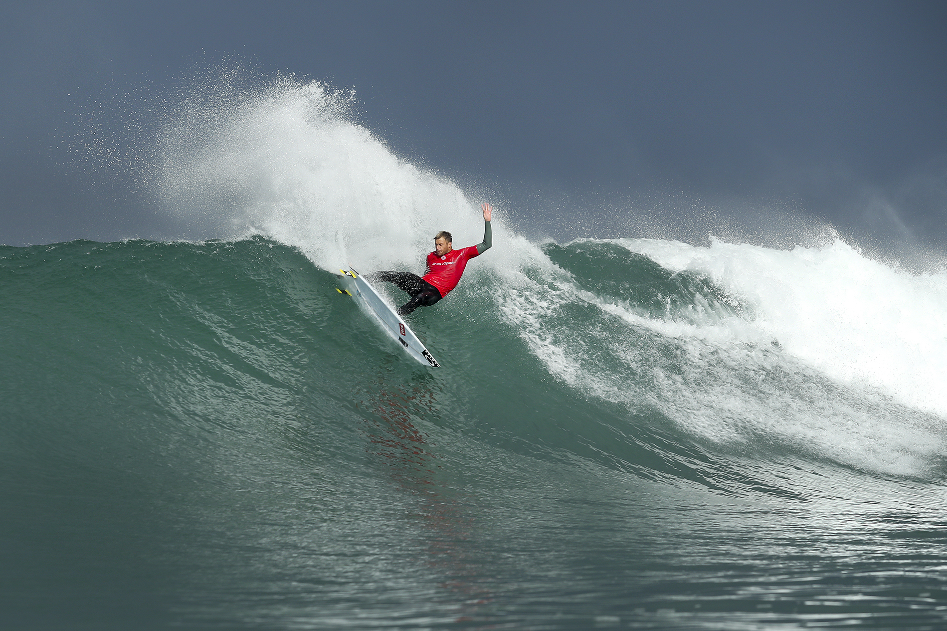 """Sebastian Zietz of Hawaii (pictured) during Round 1 of the JBay Open on Wednesday July 6, 2016. PHOTO: © WSL/ Cestari SOCIAL:@wsl @kc80 This image is provided by the Association of Surfing Professionals LLC (""""World Surf League"""") royalty-free for editorial use only. No commercial rights are granted to the Images in any way. The Images are provided on an """"as is"""" basis and no warranty is provided for use of a particular purpose. Rights to individuals within the Images are not provided. The copyright is owned by World Surf League. Sale or license of the Images is prohibited. ALL RIGHTS RESERVED."""
