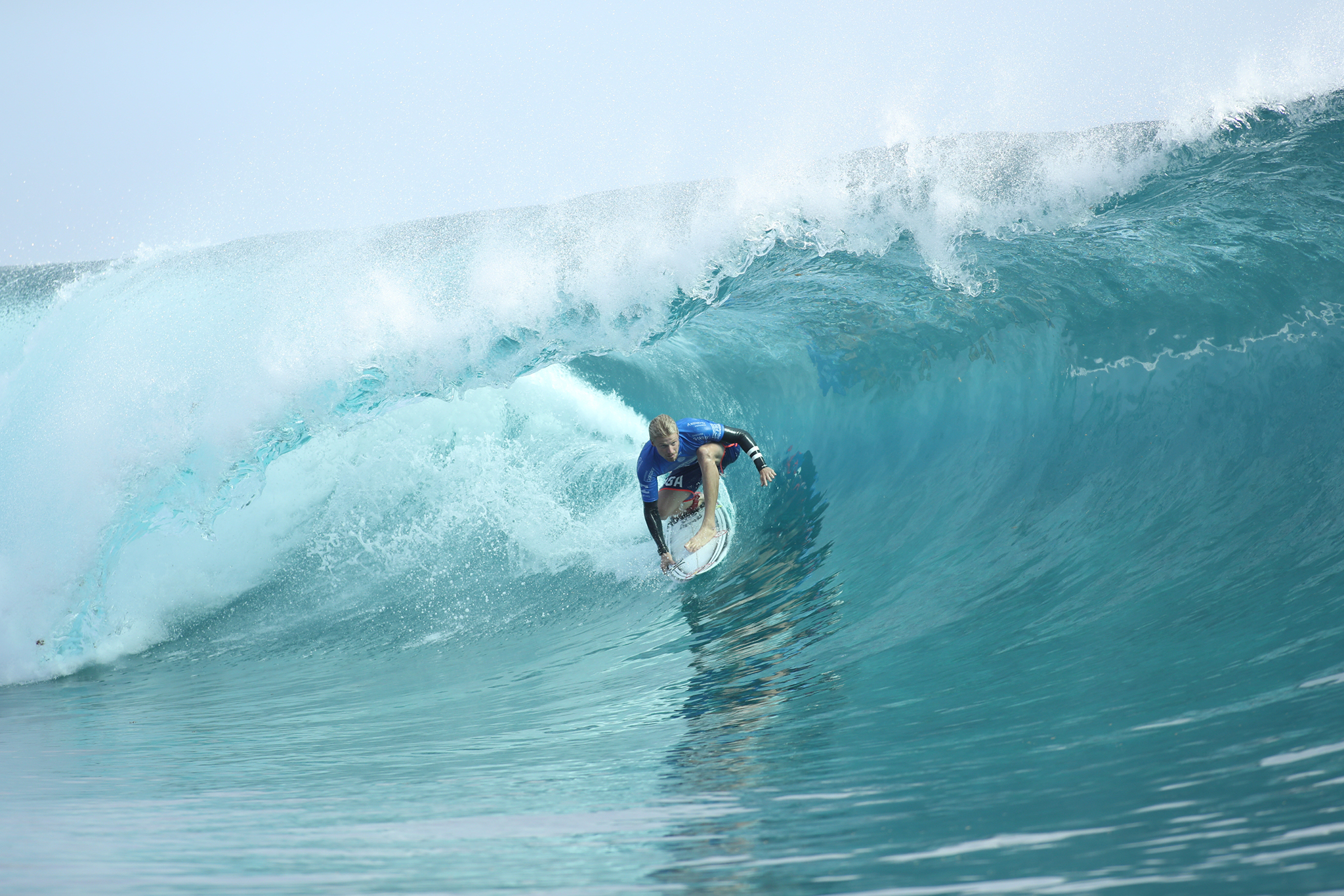 0faa53f13e7e4a Kolohe Andino of USA (pictured) winning his heat during Round Four at the  Billabong