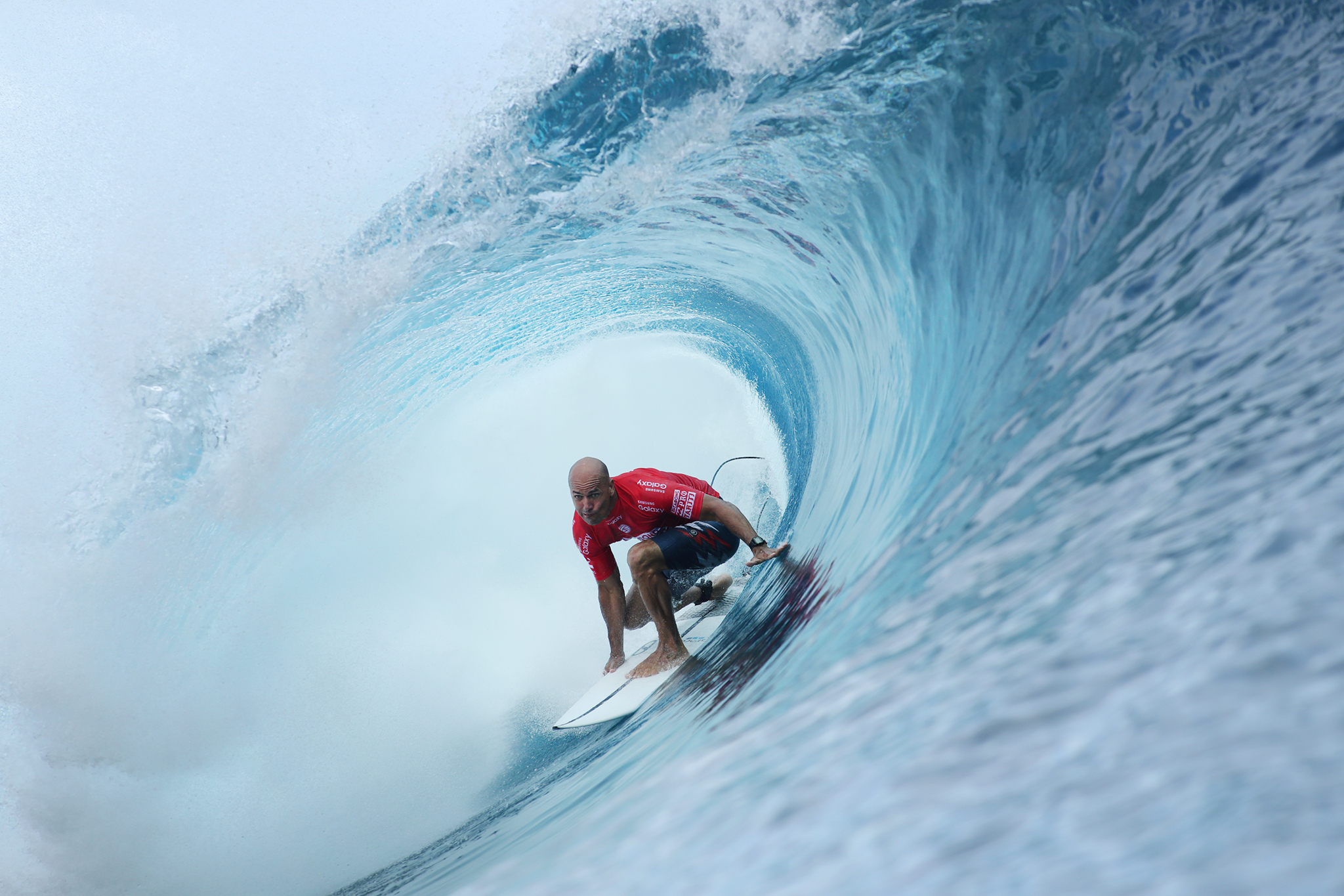 Kelly Slater of the USA (pictured) winning  the Billabong Pro Tahiti on Tuesday August 23, 2016.  PHOTO: @wsl/ Cestari SOCIAL: @wsl @kc80 This image is the copyright of  the World Surf League and is provided royalty free for editorial use only, in all media now known or hereafter created. No commercial rights granted. Sale or license of the images is prohibited. This image is a factually accurate rendering of what it depicts and has not been modified or augmented except for standard cropping and toning. ALL RIGHTS RESERVED.