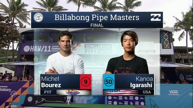 Bourez victorious at Pipe