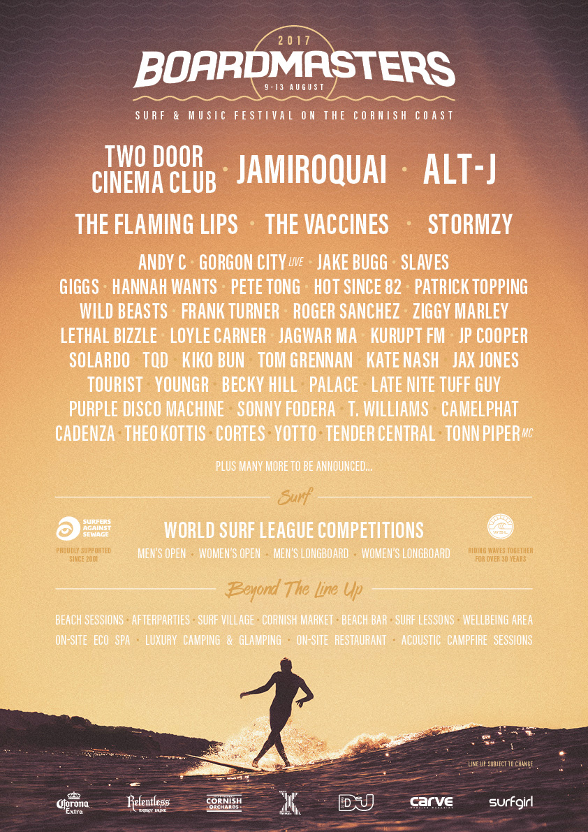 Boardmasters 2017 Line Up Announcement Carvemag Com