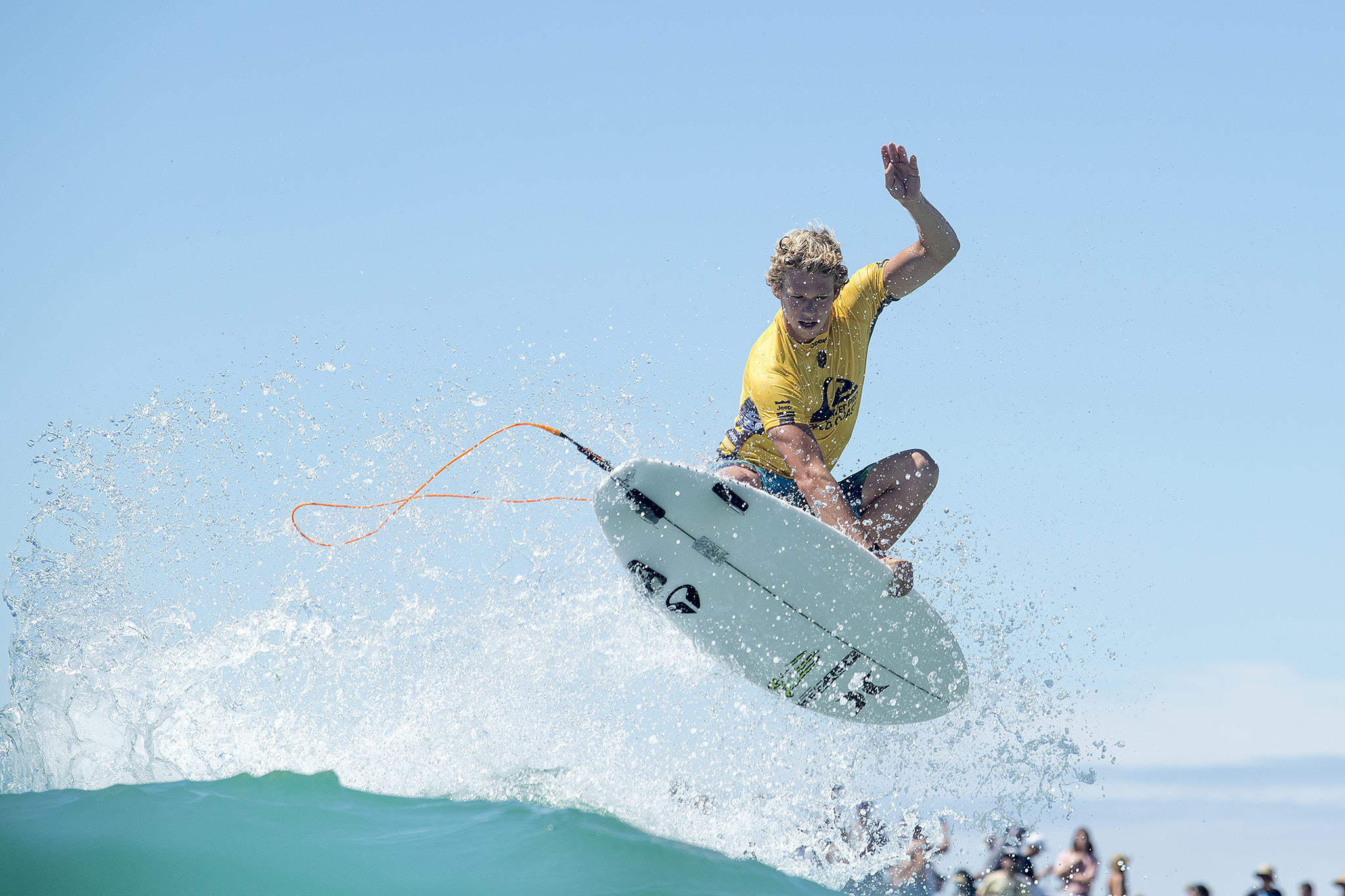 62e2a076b3 JEEP Rankings Leader and current World Champion John John Florence of Hawaii  advanced to the Quarterfinals after winning Heat 2 of Round Four at the  Quik ...