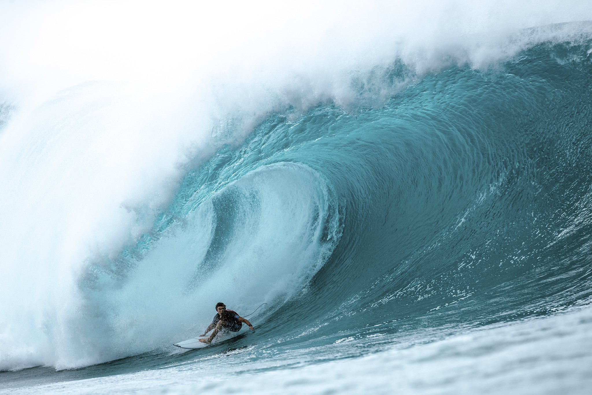 fcef0c2aa15d68 Griffan Colapinto of USA placed second in Heat 5 of Round 3 at the  Billabong Pipe Masters at Pipeline