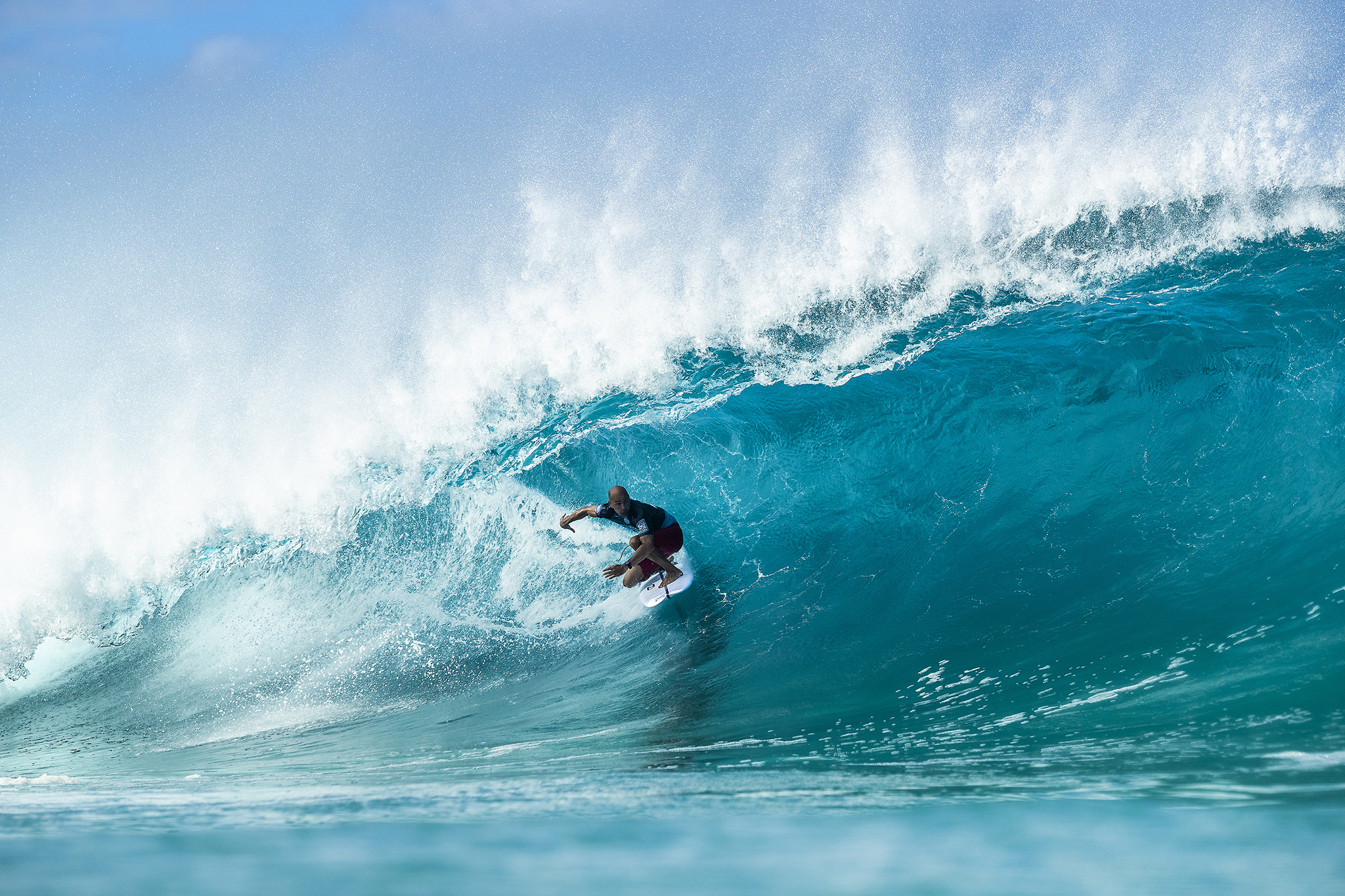 32d76a4606c4f9 11X World Champion Kelly Slater (USA) advances to Round 3 of the 2018  Billabong Pipe Masters after winning Heat 6 of Round 2 at Pipeline