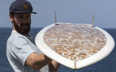 How two men and a surfboard made of cigarettes are trying to change the world