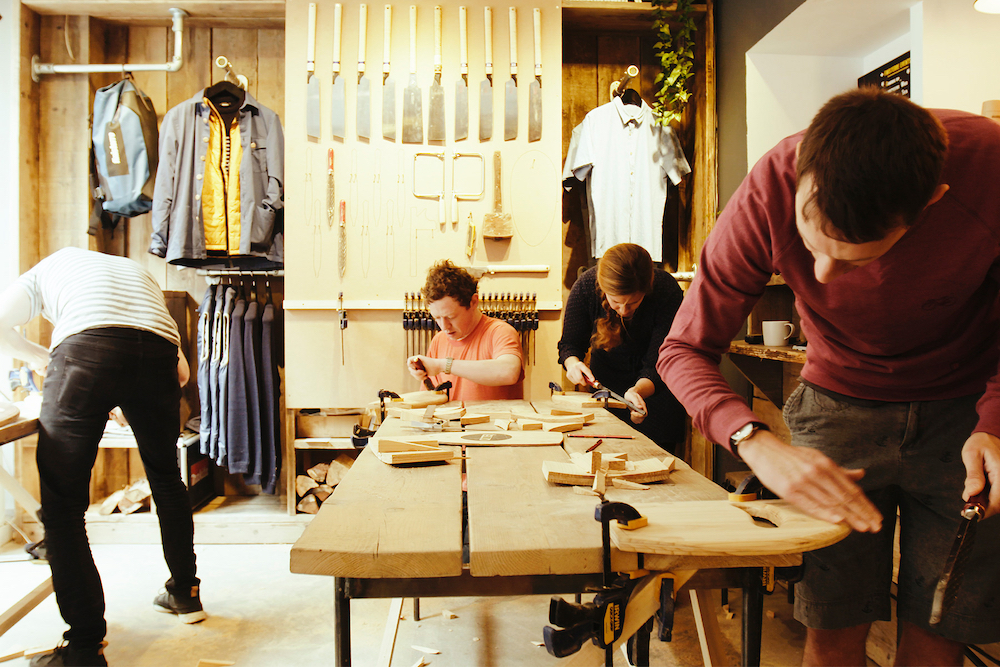 Make your own hand plane – Finisterre x Otter Surfboards Workshop on Wheels Tour