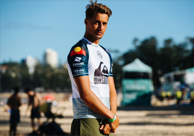 Soli Bailey will become the first professional surfer to wear the Aboriginal flag on the sleeve of his WSL jersey.