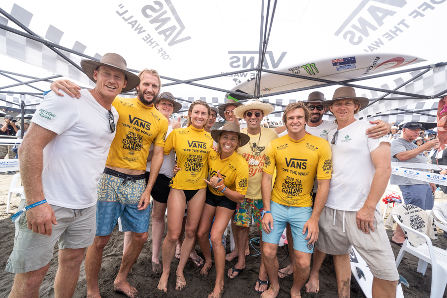 Aussies Claim Gold Medals in ISA Aloha Cup Team Relay Event