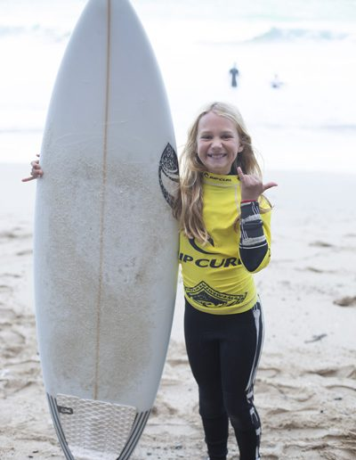 Bethan Davies made the long trip from Newcastle to be part of the stoked competition