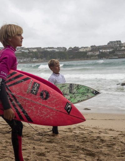 Great Western tucked right in Newquay Bay provided a great venue to kick off the Grom Search series in the UK