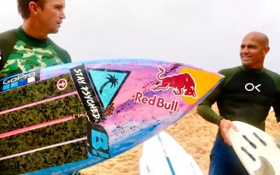 Jamie O making the most of flat days on the North Shore with John John and Kelly Slater.
