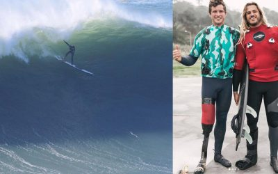 Amputee Surfer Ollie Dousset Takes On Nazaré With One Leg!