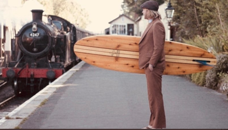 GWR call police as surfer tries to travel on empty train with surfboard.