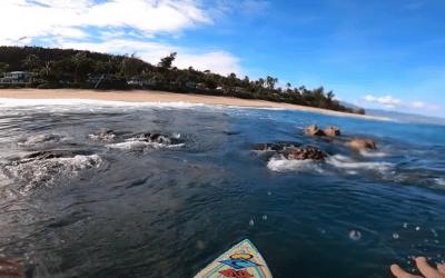 Surfing Through Rocks POV Full Experience
